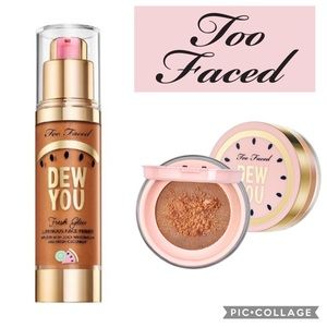 NEW TOO FACED Dew You Fresh Glow Primer & Powder